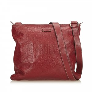 Gucci Crossbody bag red leather
