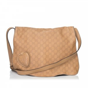 Gucci Guccissima Leather Tribeca Messenger Bag