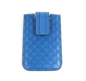 Gucci Guccissima Leder Iphone Handytasche, tasche, Blau