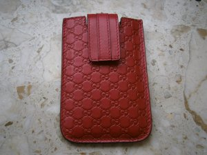 Gucci Mobile Phone Case carmine leather