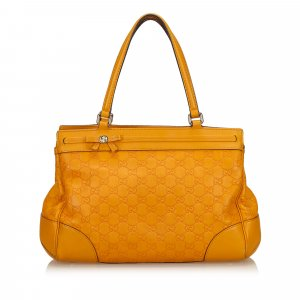 Gucci Shoulder Bag yellow leather