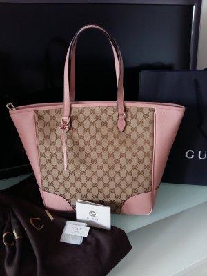 GUCCI Guccissima Neu Tasche Canvas Rose Leder