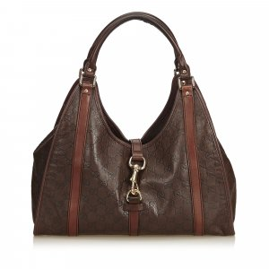 Gucci Shoulder Bag brown leather