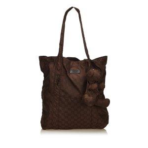 Gucci Bolso de compra marrón oscuro Nailon