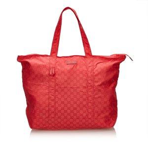 Gucci Bolso de compra rojo Nailon