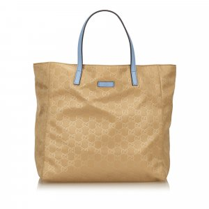 Gucci Borsa larga beige Nylon