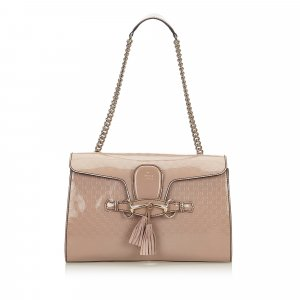Gucci Guccissima Patent Leather Emily Shoulder Bag