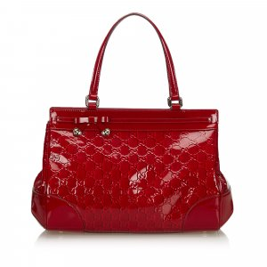 Gucci Guccissima Patent Leather Mayfair Handbag