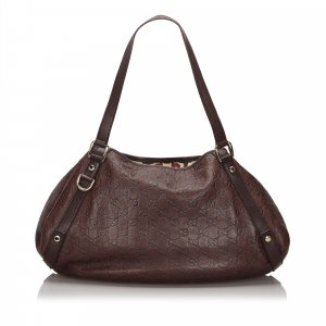Gucci Tote dark brown leather