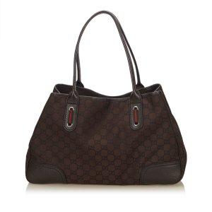 Gucci Tote dark brown nylon