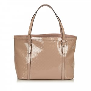 Gucci Tote pink imitation leather