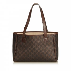 Gucci Tote dark brown polyvinyl chloride