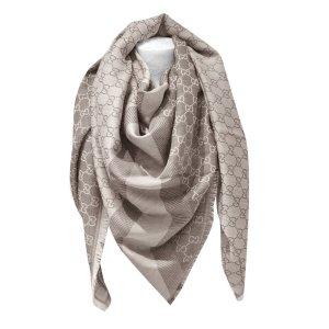 Gucci Guccissima-Tuch aus Wolle und Seide, Beige