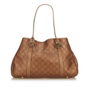 Gucci Tote bronze-colored leather