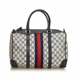 Gucci Guccissima Web Canvas Boston Bag