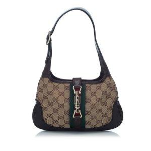 Gucci Guccissima Web Canvas Jackie Shoulder Bag