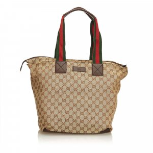 Gucci Guccissima Web Canvas Tote