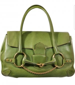 Gucci Gucissima tom ford large green leather Limited Edition bag tasche