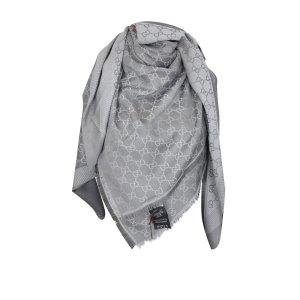 Gucci Gucissima Tuch aus Seide und Wolle in Grau