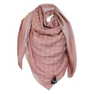 Gucci Gucissima Tuch aus Seide und Wolle in Lachs