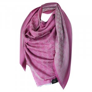 Gucci Kerchief pink-silver-colored wool