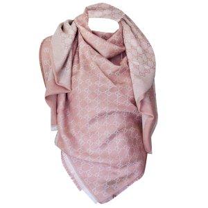 Gucci Châle rose clair laine