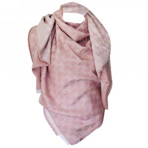 Gucci Gucissima Tuch aus Seide und Wolle in Rosa