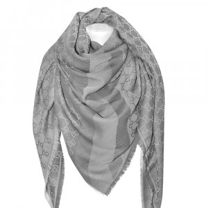 Gucci Châle gris clair laine