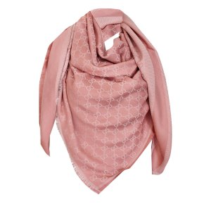 Gucci Kerchief rose-gold-coloured wool