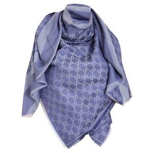 Gucci Gucissima XL Tuch aus Seide und Wolle, Violett