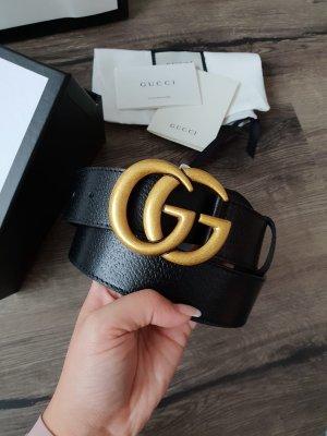 Gucci Gürte aus Leder mit Doppel G Schnalle