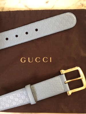 Gucci Leather Belt azure leather