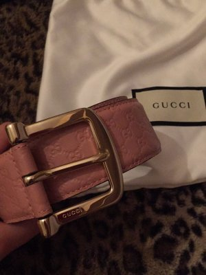 Gucci Leather Belt light pink