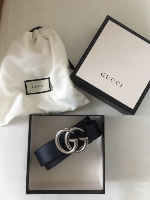 Gucci Ceinture en cuir bleu foncé