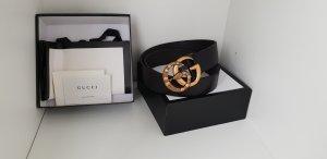 Gucci Gürtel aus Leder mit GG Schnalle mit Schlange