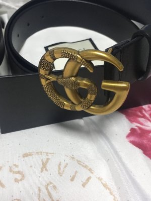 Gucci Gürtel aus Leder mit Schlange