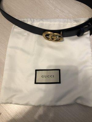 Gucci Gürtel blau 3,4 cm breit unbenutzt goldene schnalle