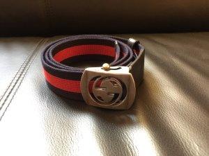 Gucci Gürtel Blau Rot Rechnung wNeu