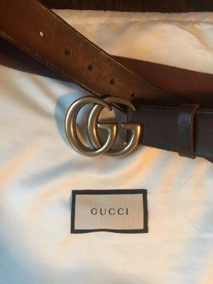 Gucci Cintura di pelle marrone