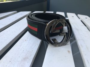 Gucci Gürtel Canvas Logo Interlocking Schnalle GG