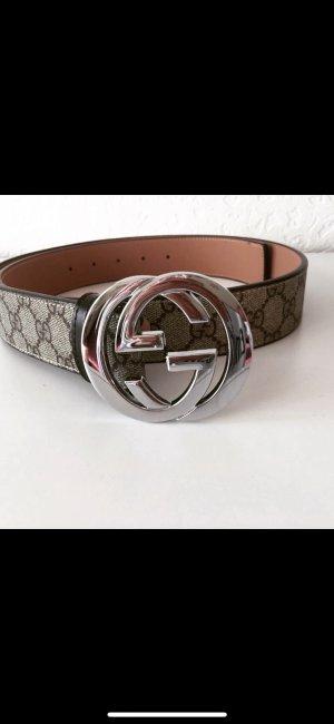 Gucci Leather Belt grey
