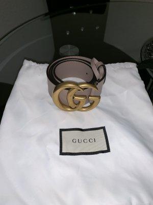 Gucci Cintura di pelle color carne-color oro rosa