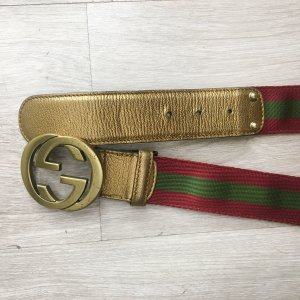 Gucci Canvas Belt multicolored metal