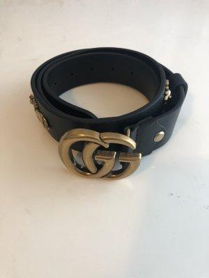 Gucci Lederen riem zwart