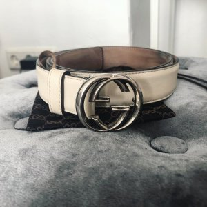 Gucci Gürtel GG Marmont Interlocking Buckle Luxus Leder