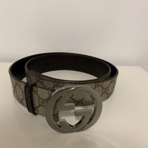 Gucci Canvas Belt beige-dark brown