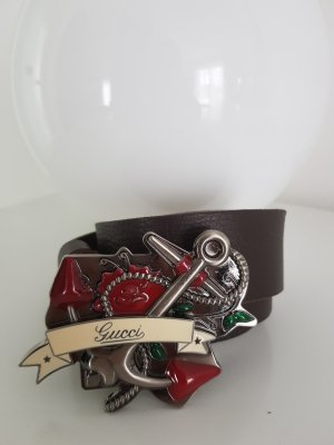 Gucci Belt Buckle brown leather