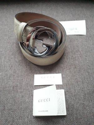 Gucci Gürtel sandbeige, neu, 100% Original mit Box und Etikett