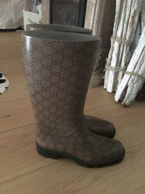 Gucci Wellington laarzen grijs-bruin-taupe