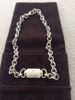Gucci Collier Necklace light grey real silver